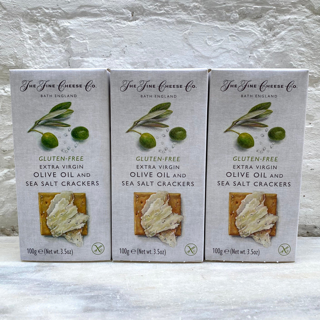 Fine Cheese Co Extra Virgin Olive Oil and Sea Salt Crackers (Gluten Free)