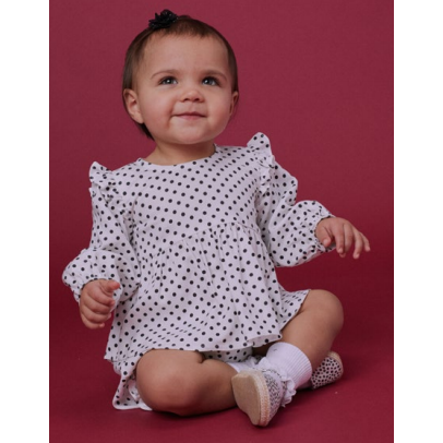 Pepper Dot Blouse & Bloomer Set