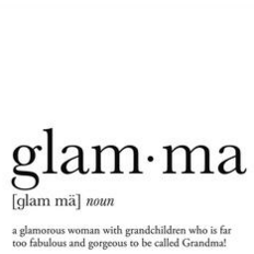 Glamma Greeting Card