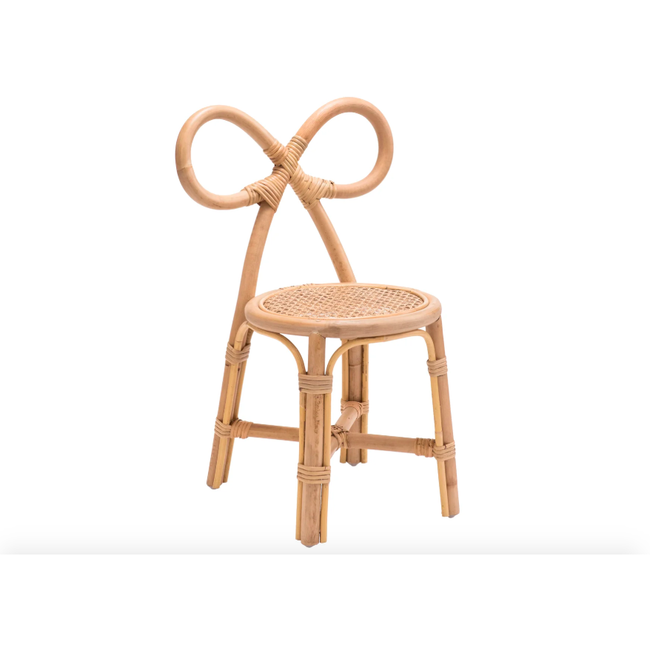 Handmade Toddler Rattan Bow Chair