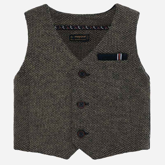 Mayoral Tweed Formal Vest