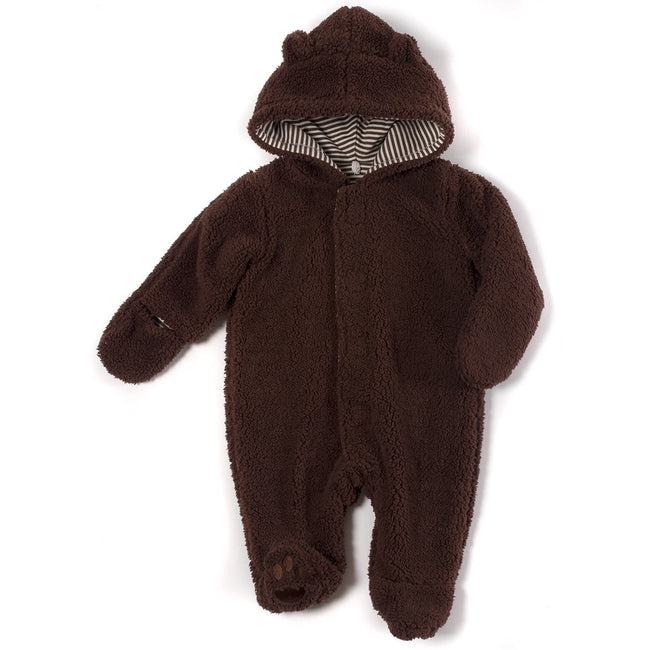 Magnetic Bears Fleece Pram - Mocha