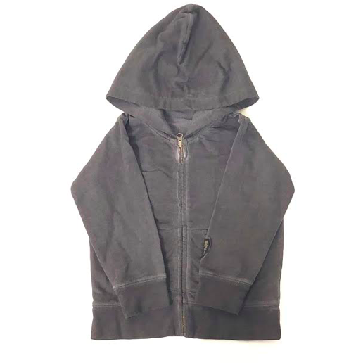 Garment Dye Zip Up Hoodie - Charcoal