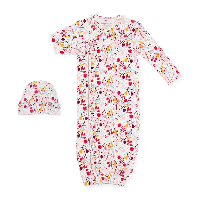 Pom Pom Organic Cotton Magnetic Gown Set
