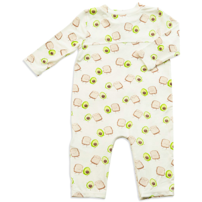 Bamboo Button-Up Romper - Avo Toast