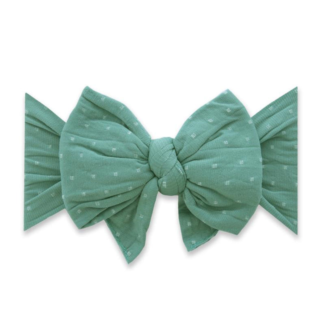 Dang Enormous Bow Headband - Teal Dot