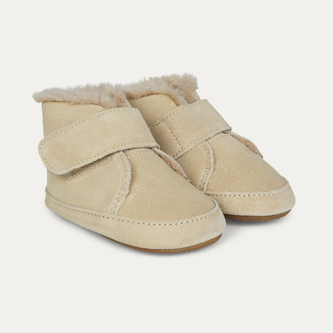 Softly Booties - Natural Suede