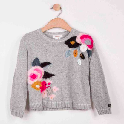 Floral Motif Sweater