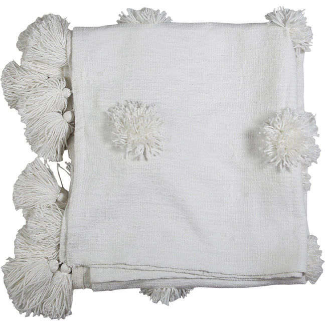 Pom Pom Slub Throw