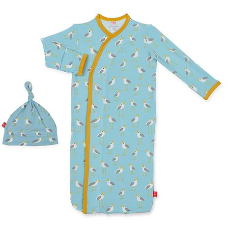 Blue Plovers Modal Magnetic Gown Set