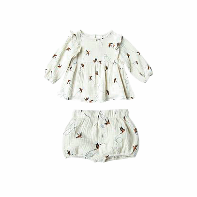 Sparrow Blouse and Shorts Set