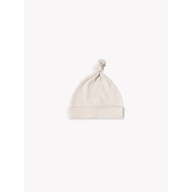 Organic Knotted Baby Hat - Bone