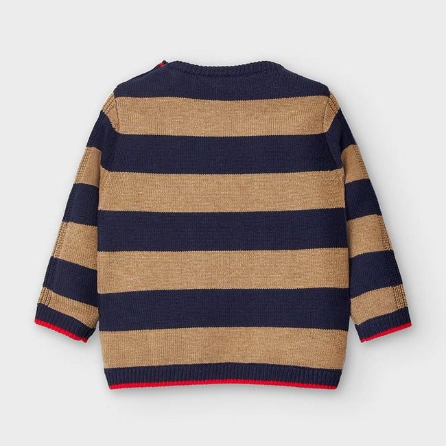Striped Sweater - Almond