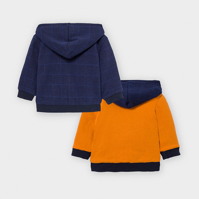 Reversible Hooded Jacket - Navy