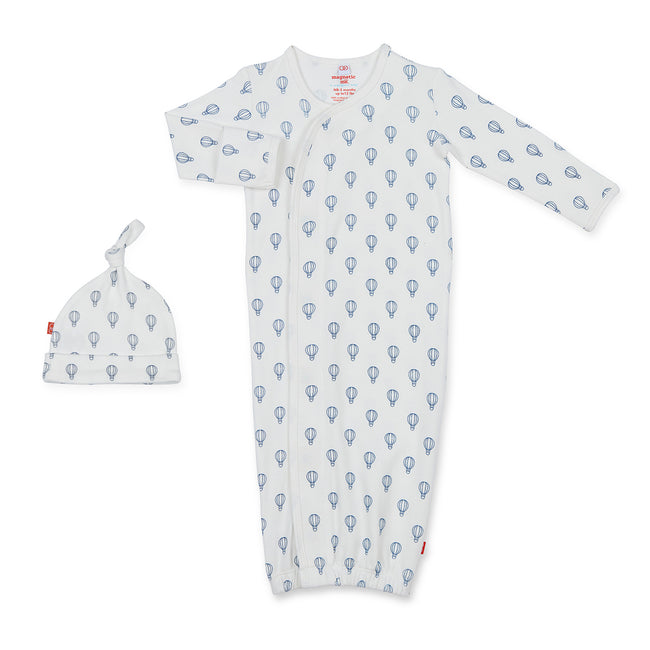 Blue Open Sky Organic Cotton Magnetic Gown Set