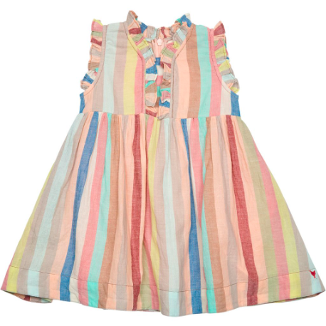 Vera Baby Dress - Multi Vintage Stripe