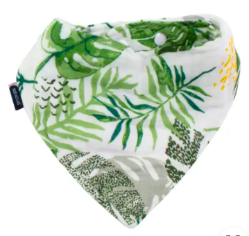 Rainforest Muslin Bandana Bib
