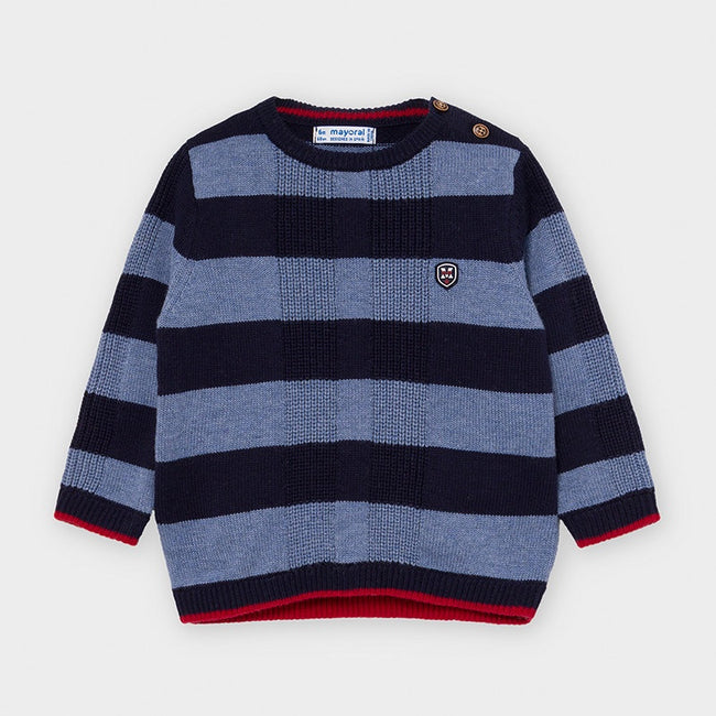 Striped Sweater - Lead