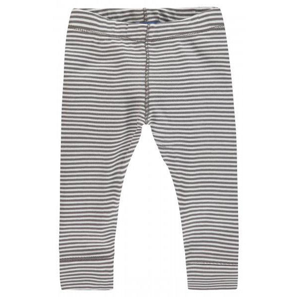 Striped Leggings - Stone Grey