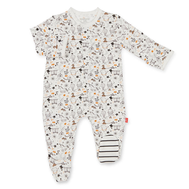 White Cirque Bebe Magnetic Footie