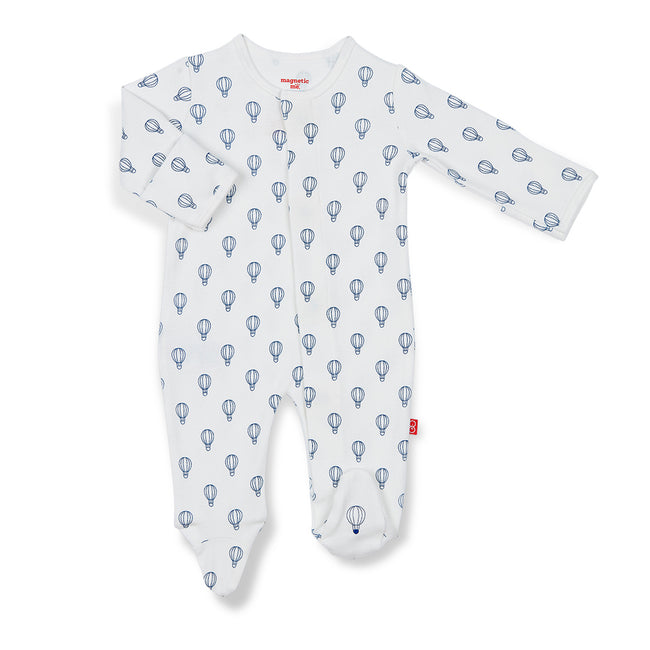 Blue Open Sky Organic Cotton Magnetic Footie
