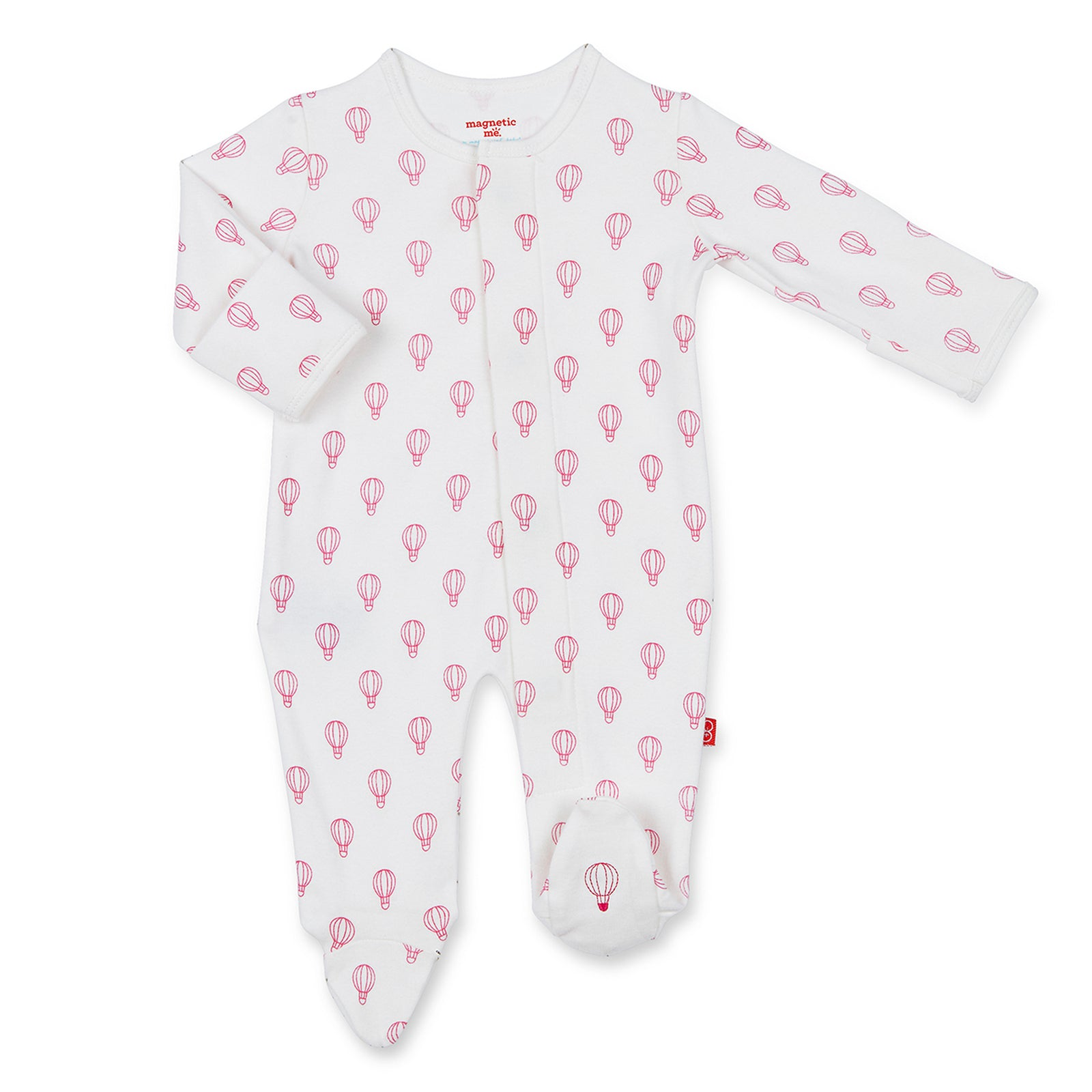 Pink Open Sky Organic Cotton Magnetic Footie