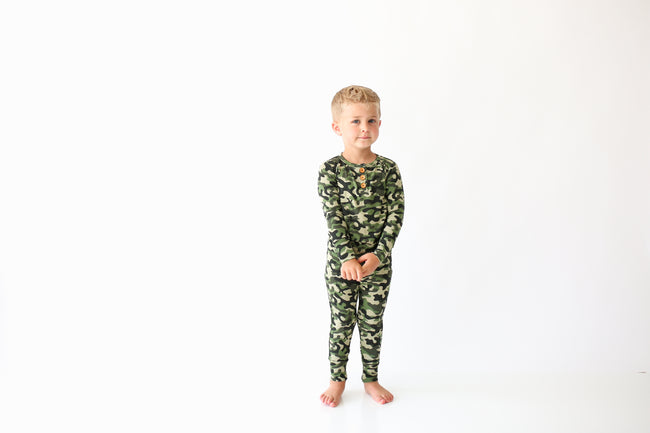 Long Sleeve Top & Pants Loungewear Set - Cadet