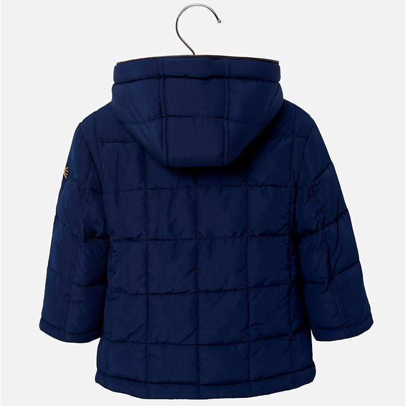 Quilted Coat with Detachable Hood