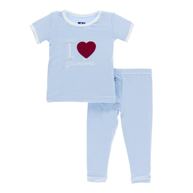 I Love Grandma Pajama Set - Pond
