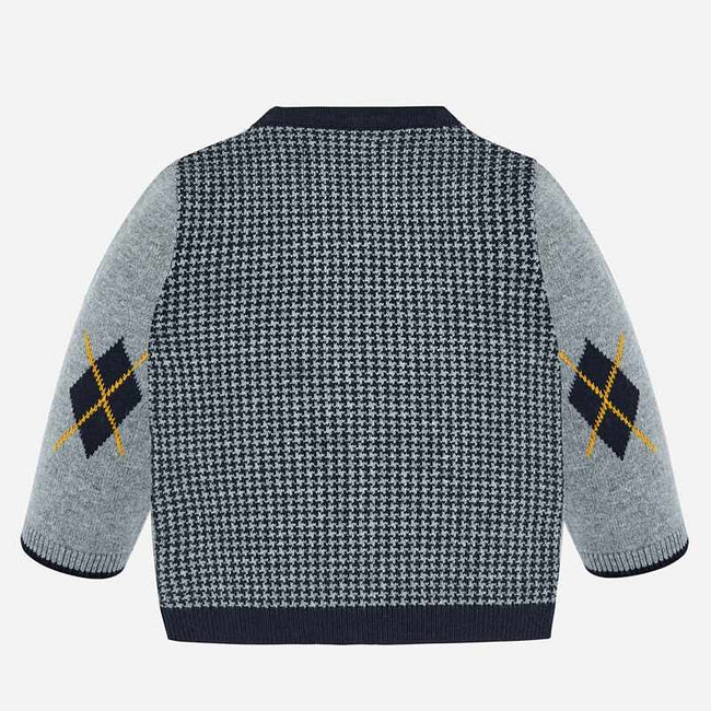 Mayoral Knit Houndstooth Sweater Jacket