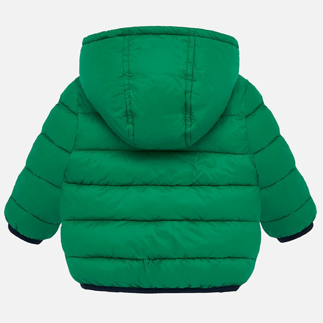 Mayoral Hooded Puffer Coat - Arugula Green