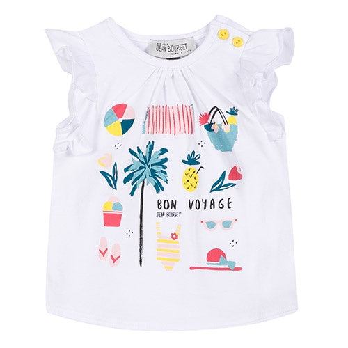 Jean Bourget Two-Piece Beach Tee and Shorts