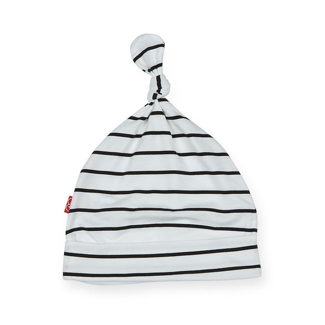 White & Black Stripe Cirque Bebe Hat
