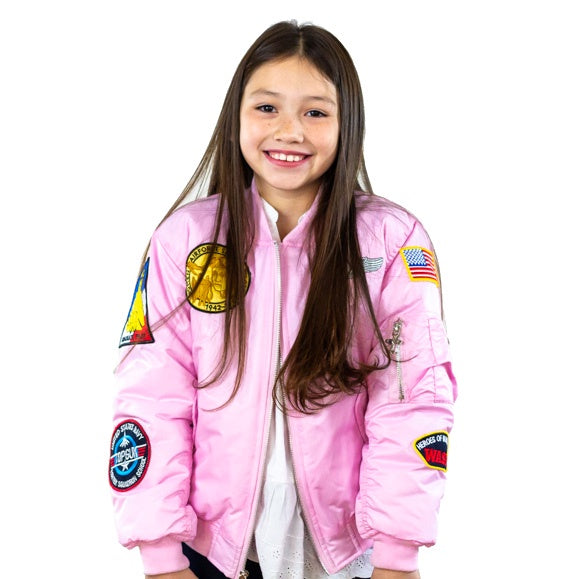 7-Patch MA1 Flight Jacket - Pink