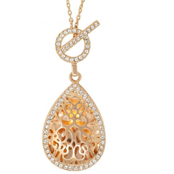 Bella Locket Necklace - Rose Gold