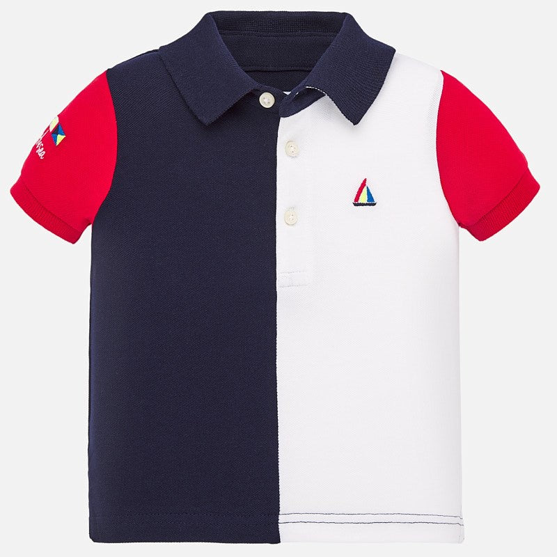 Colorblock Short Sleeve Polo Shirt