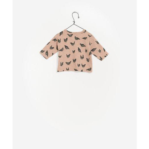 Printed Long Sleeve Top - Orange Chicken