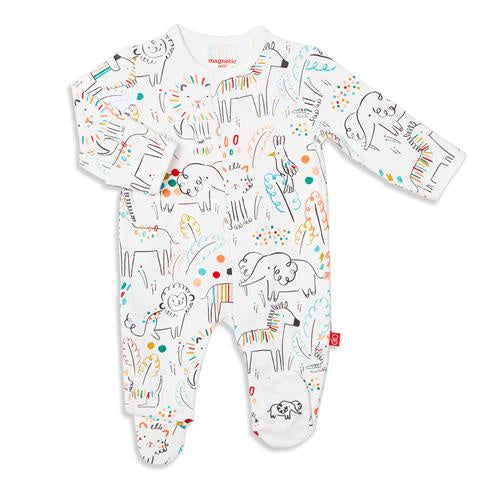 Pop Jungle Organic Cotton Magnetic Footie