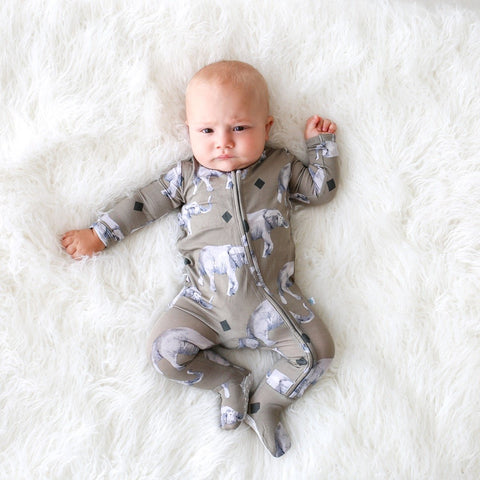 Organic Cotton Magnetic Footie - Babe-A-Saurus