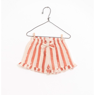 Printed Woven Shorts - Ivory & Coral