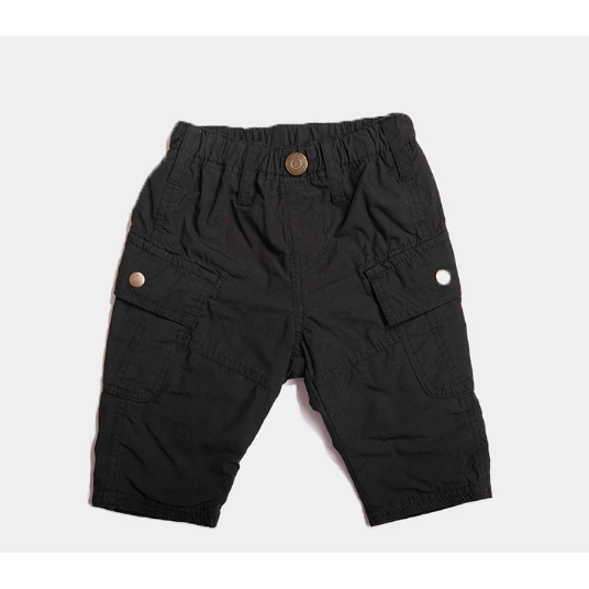 Stripe Lined Cargo Pants - Black
