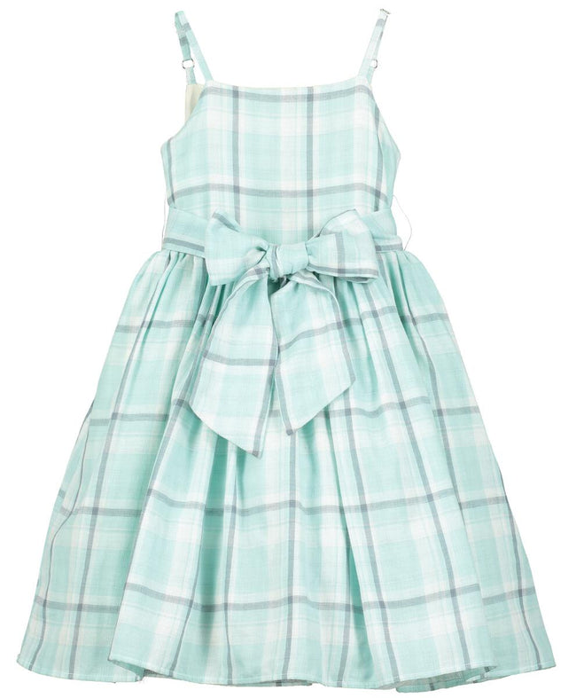 Jennie Dress - Aqua Check