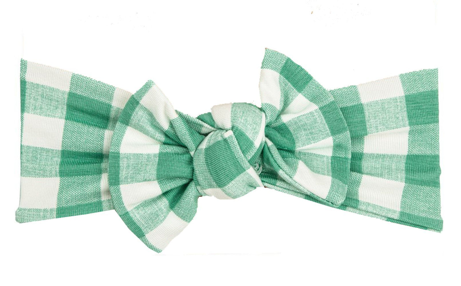 Green Gingham Headband