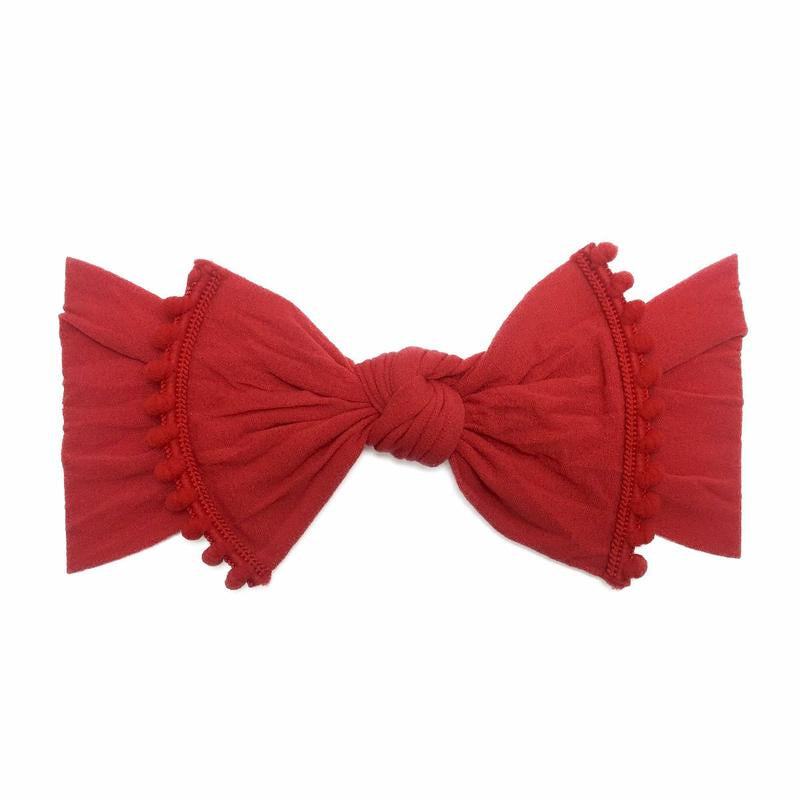 Trimmed Classic Knot Headband - Cherry