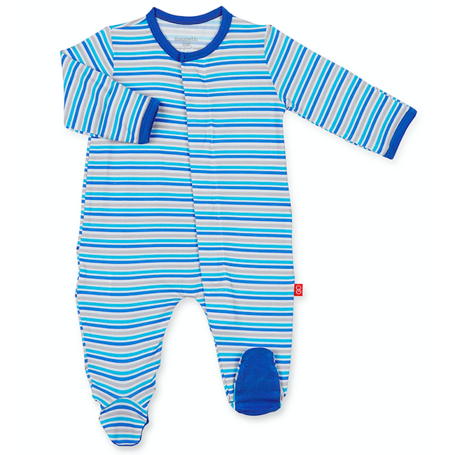 Blue Stripe Globetrotter Magnetic Footie