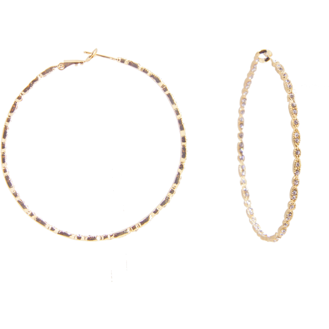 Gold Gisele Hoops - Medium