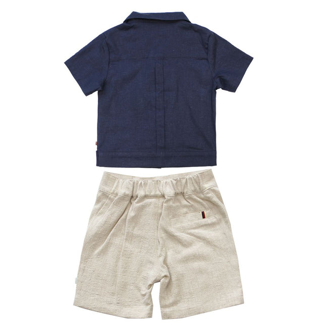 Cuban Shirt and Linen Short Set