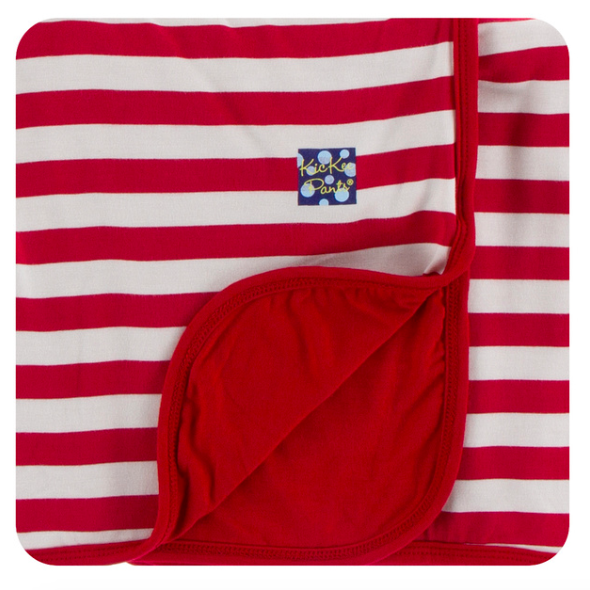Print Swaddle Blanket - Candy Cane Stripe
