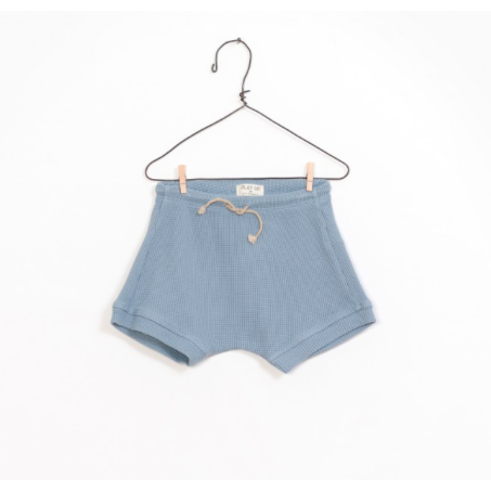 Interlock Ribbed Shorts - Blue