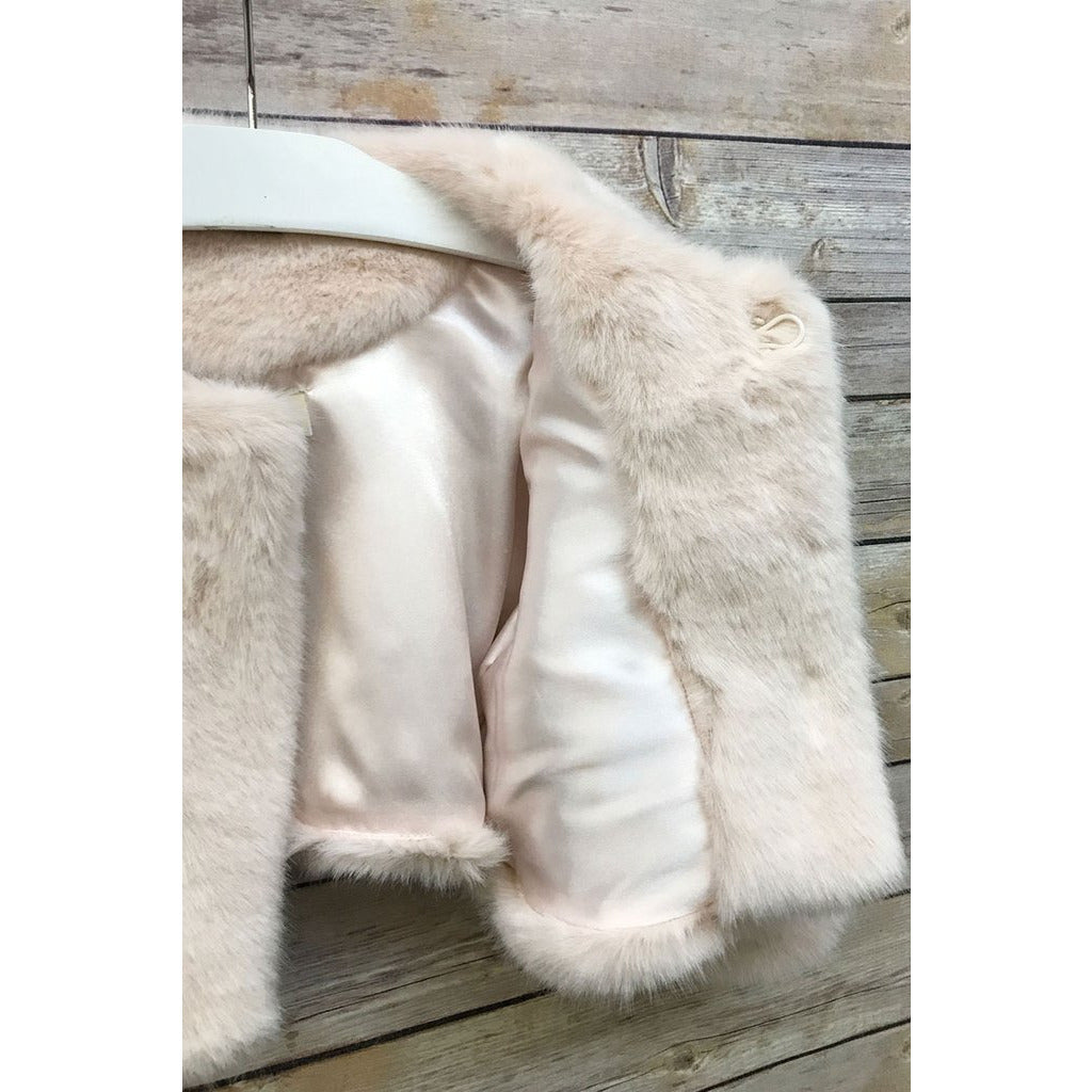 Adele Faux Fur Jacket - Blush